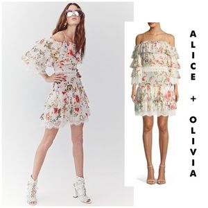 """Alice + Olivia """"Santos"""" cold shoulder dress 6"""